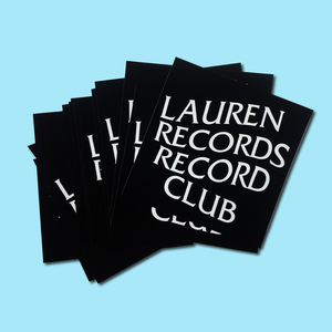 Lauren Records Record Club Sticker