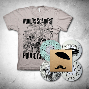 Worlds Scariest Police Chases - Adolf Hipster 7-inch + T-Shirt Bundle