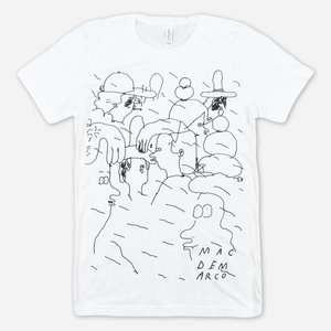 Mac Demarco PEOPLE DOODLE WHITE T-SHIRT