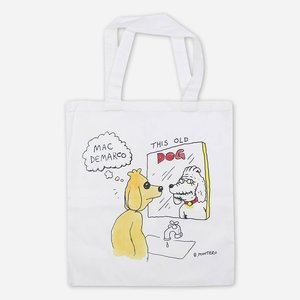Mac Demarco DOG MIRROR WHITE CANVAS TOTE BAG