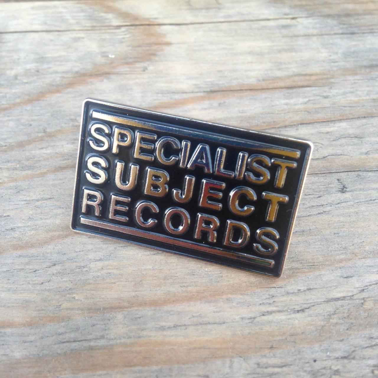 Big Specialist Subject Logo enamel pin badge