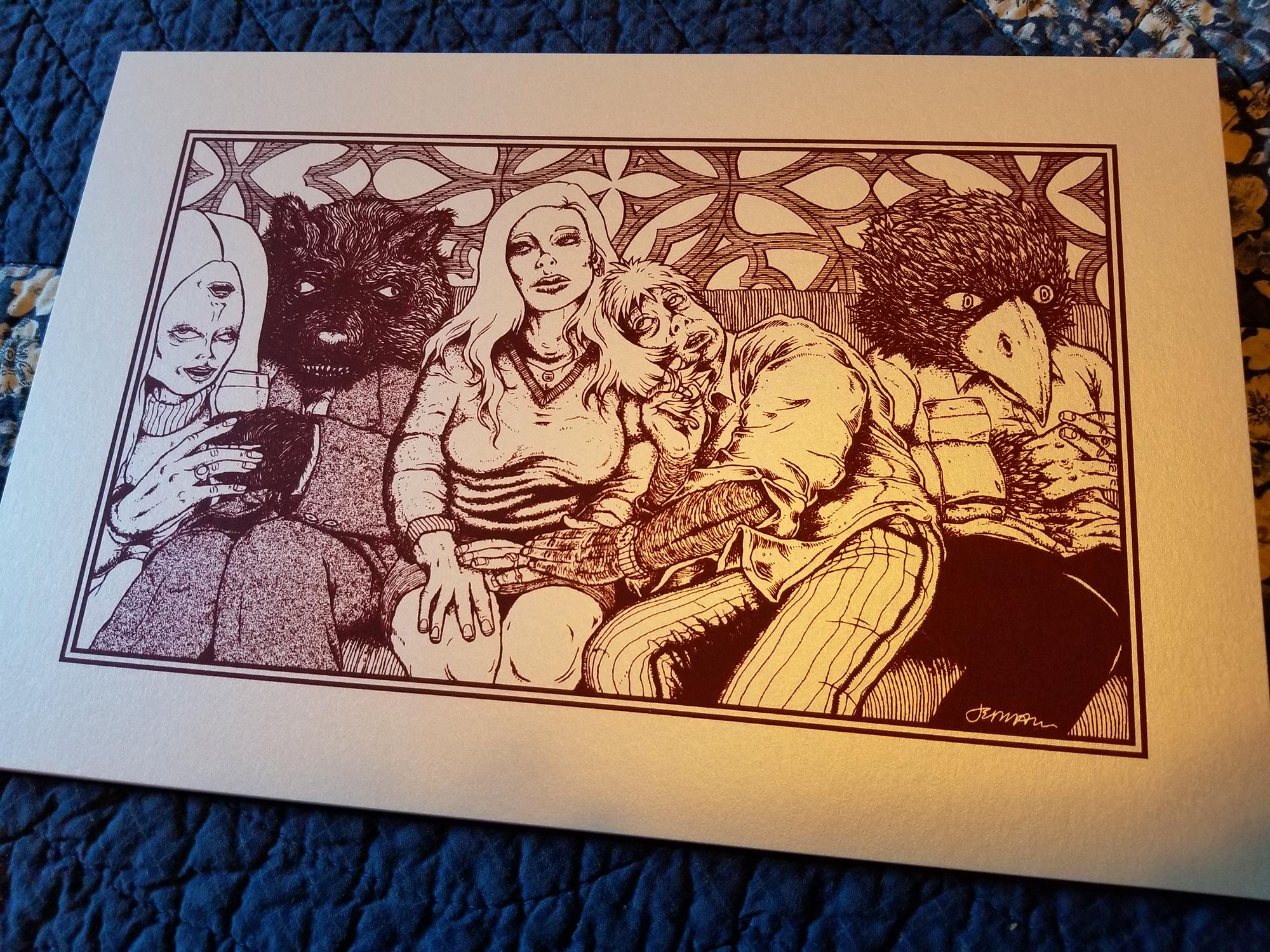 NEW - 'Need' Mini Art Print (KEYLINE)