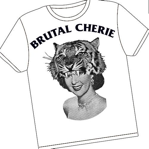Brutal Cherie - TS blanc