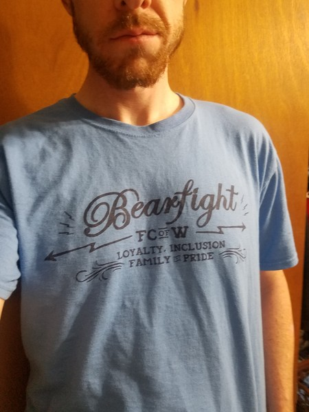 Bearfight FC Loyalty. Inclusion. Family. Pride tee shirt