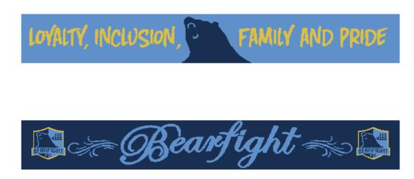 2018 Bearfight FC Scarf