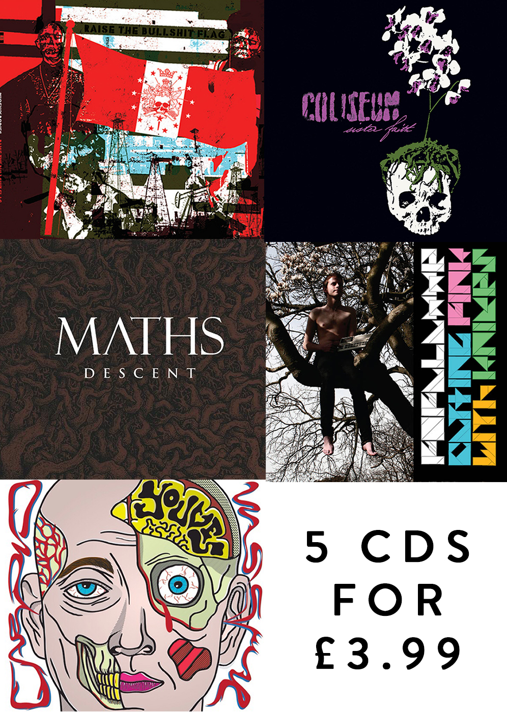 5 CDs for £3.99