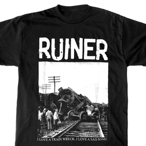 Ruiner 'Trainwreck' Black T-Shirt