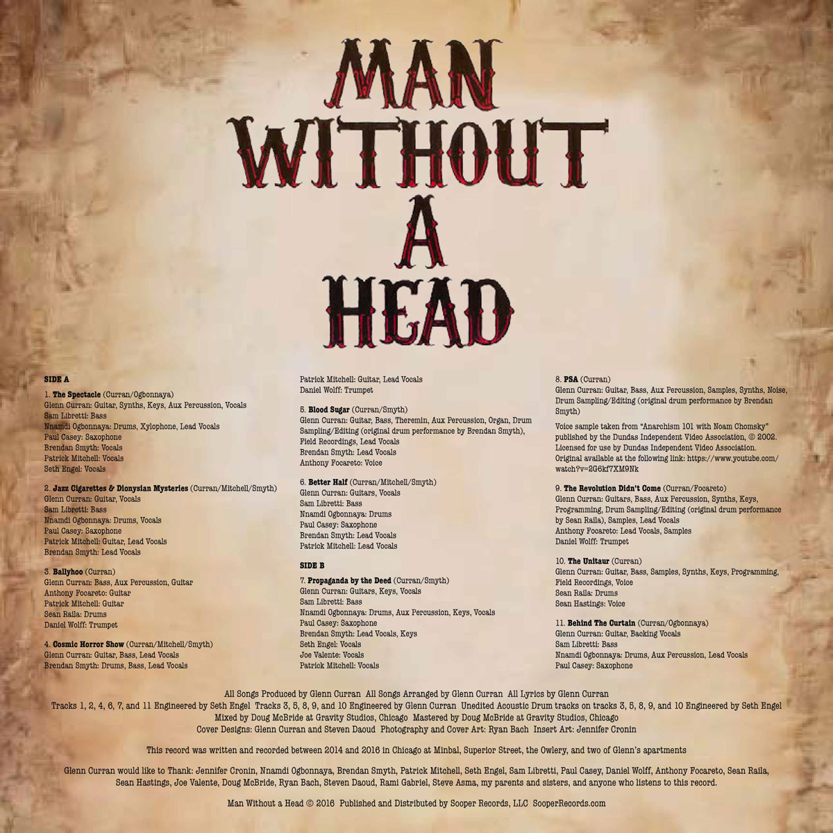 Sooper Records - Man Without A Head