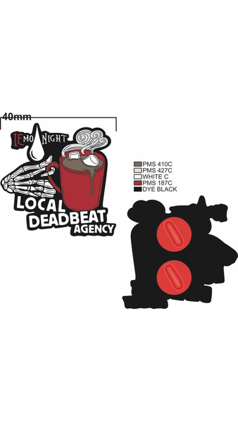 iEmo Night x Local Deadbeat Event Enamel Pin