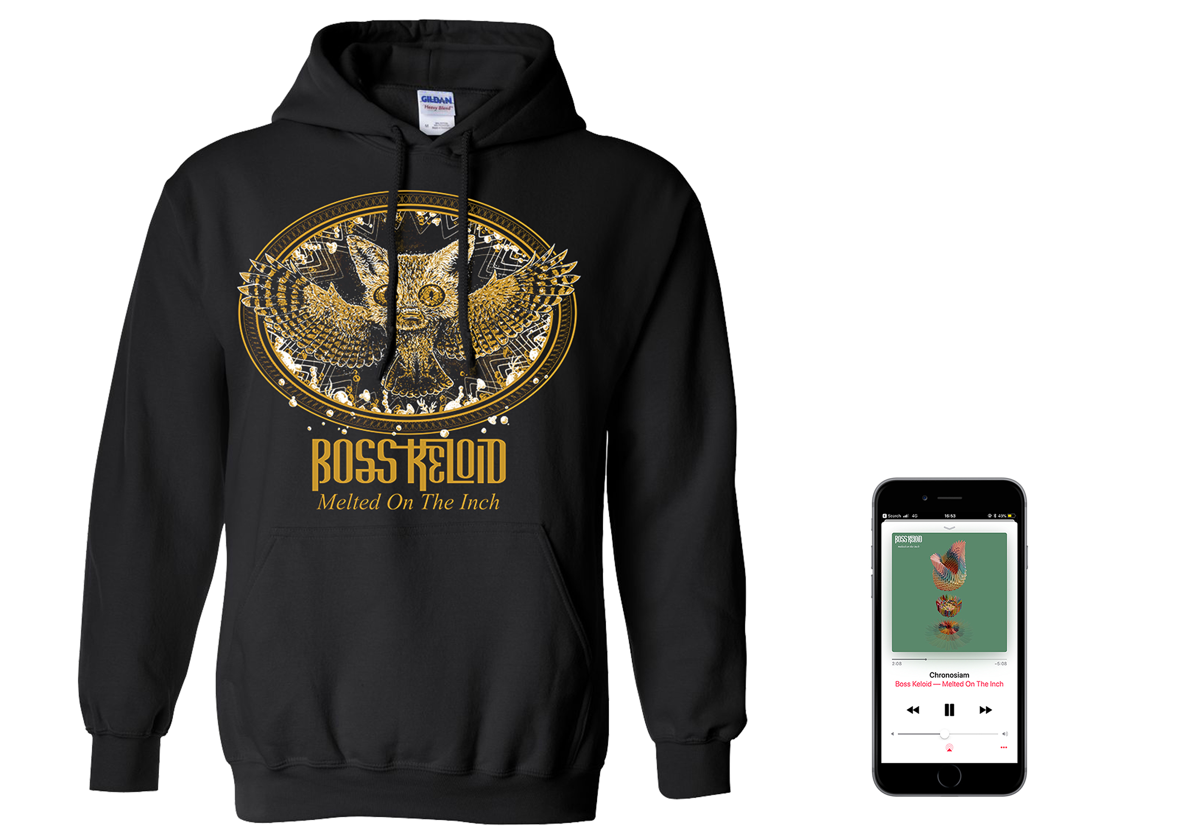 Boss Keloid 'Melted...' Foxowl hoodie + digital download