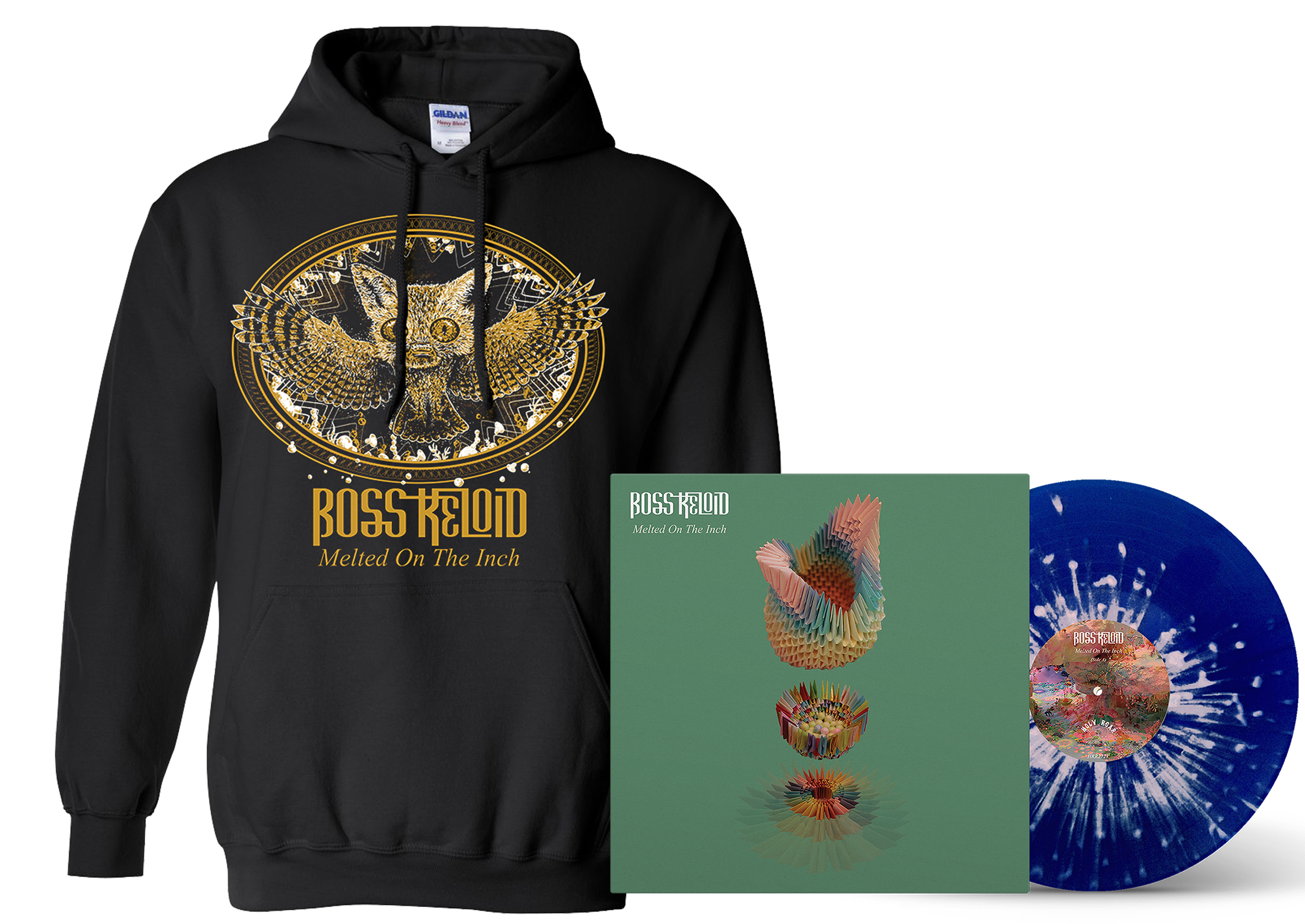 Boss Keloid - Melted On The Inch Foxowl hoodie + LP