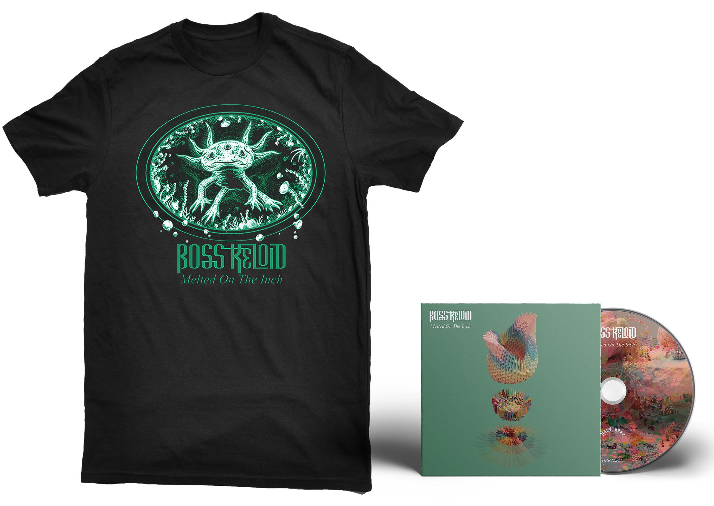 Boss Keloid 'Melted...' Axolotl shirt + CD