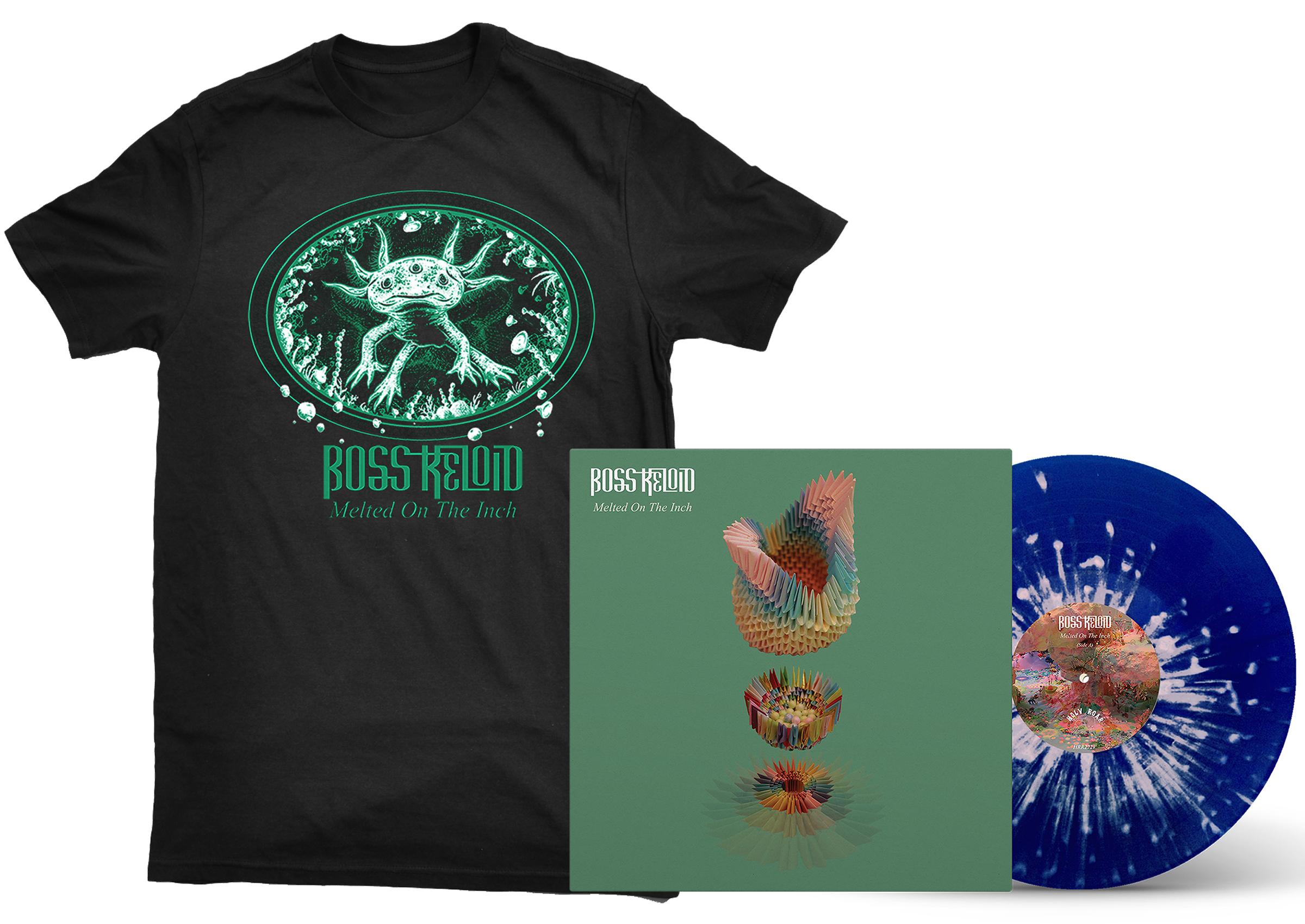Boss Keloid 'Melted...' Axolotl shirt + LP