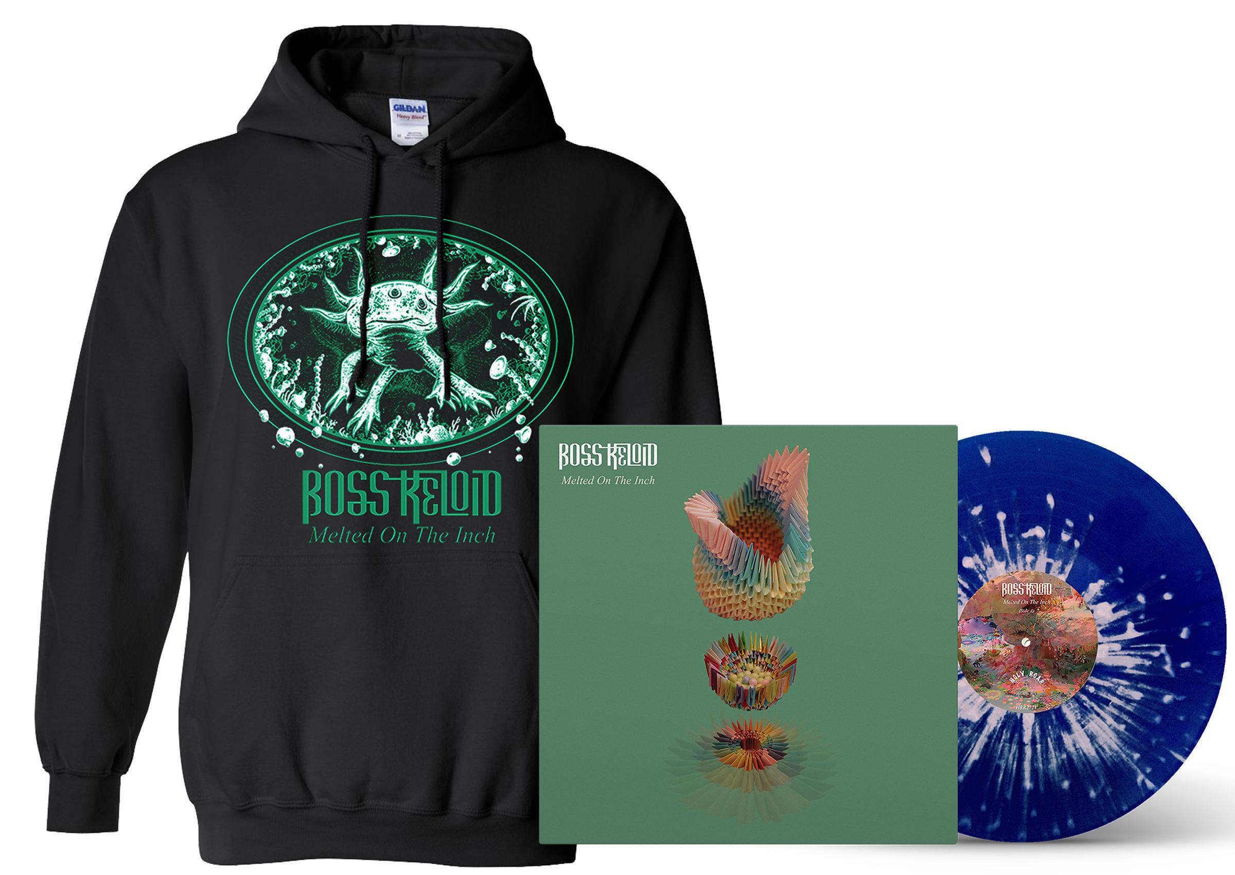 Boss Keloid 'Melted...' Axolotl hoodie + LP