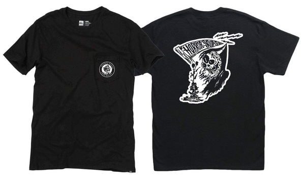 Horror Squad Death Posi Pocket Tee