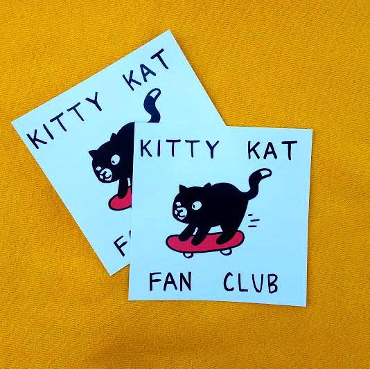 KITTY KAT FAN CLUB stickers