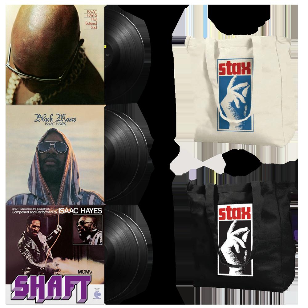 Three Isaac LPs + Free Tote bundle