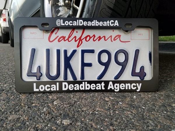 Deadbeat Licence Plate Frame