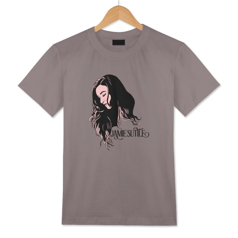 Jamie Suttle Pop Art T-shirt - Black and Pink on Grey (Men's)