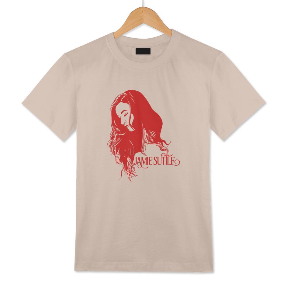 Jamie Suttle Pop Art T-shirt - Red on Vintage Tan (Men's)