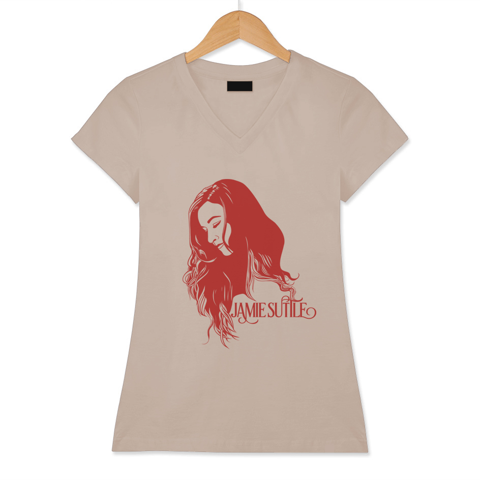 Jamie Suttle Pop Art T-shirt - Red on Vintage Tan (Women's)