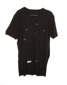 Layered Black Tee w/ Wave (O/S)