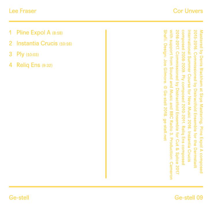 Lee Fraser - Cor Unvers (CD)