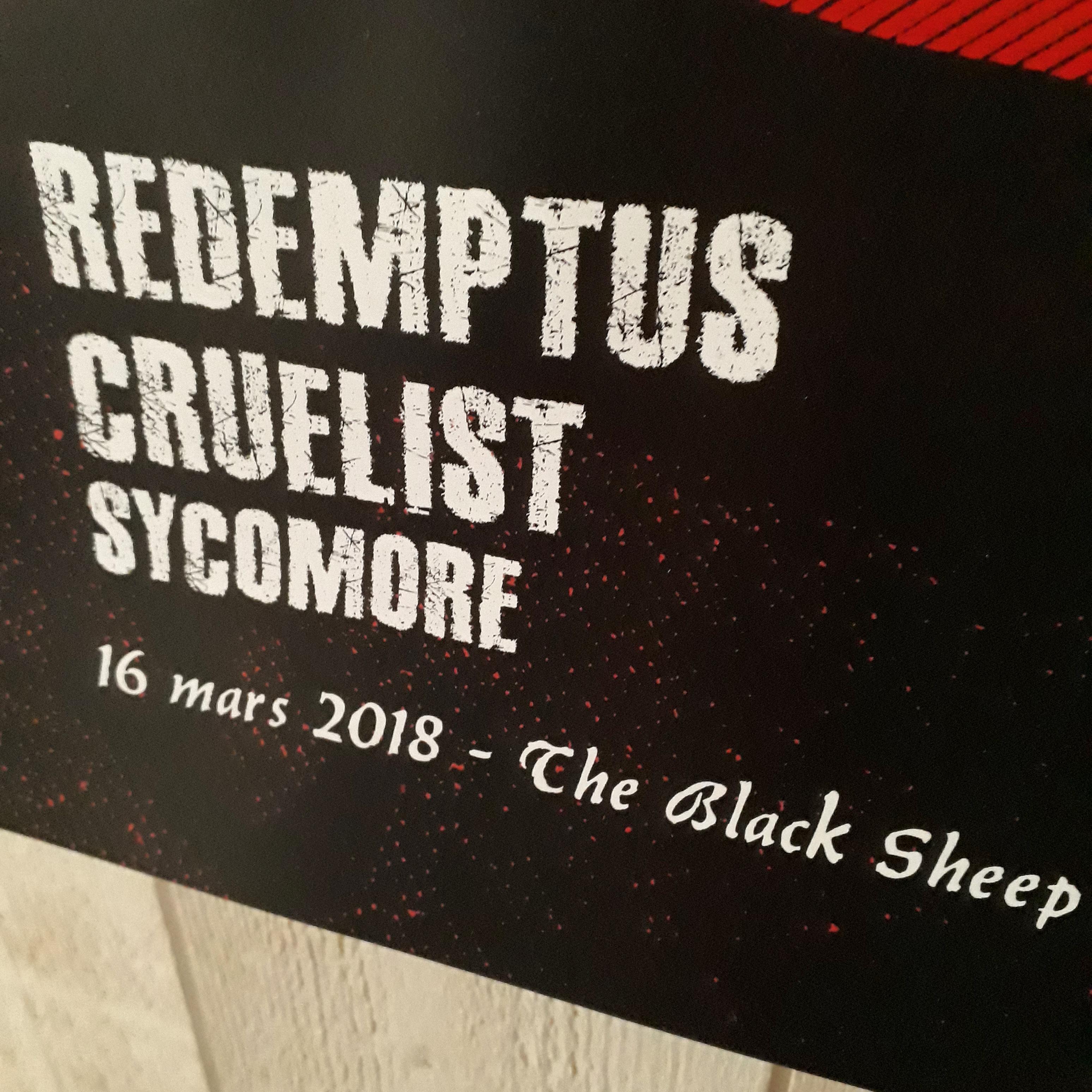 REDEMPTUS + CRUELIST + SYCOMORE