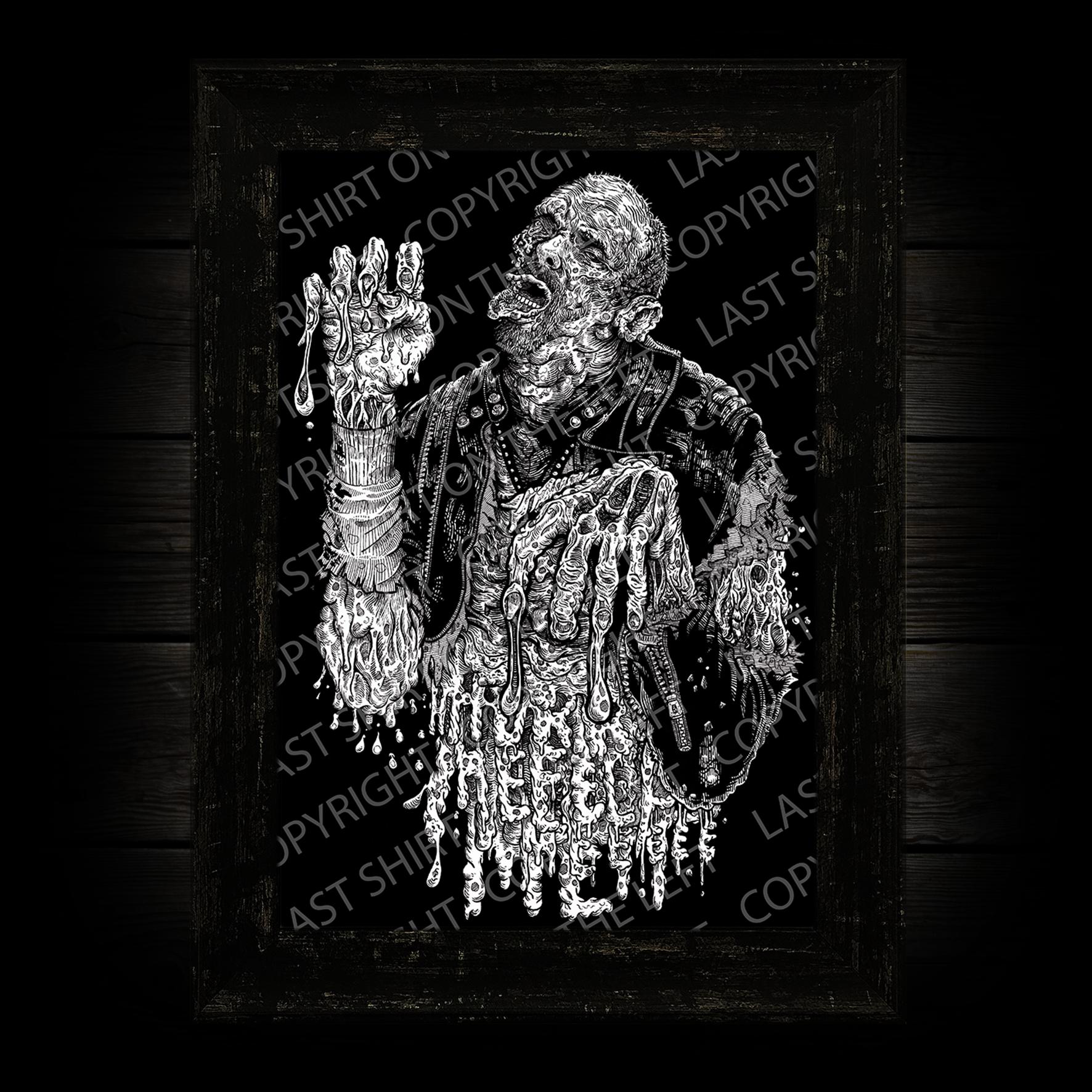 Last Shirt On The Left Acid Bath Art Print