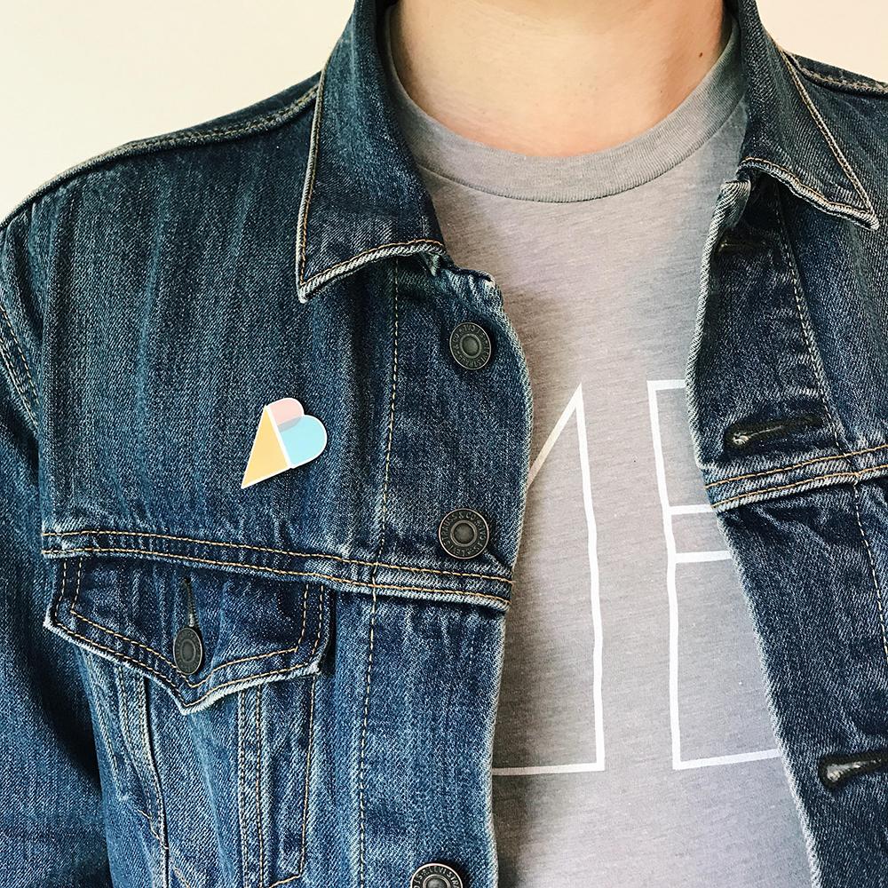 AB Logo Pin