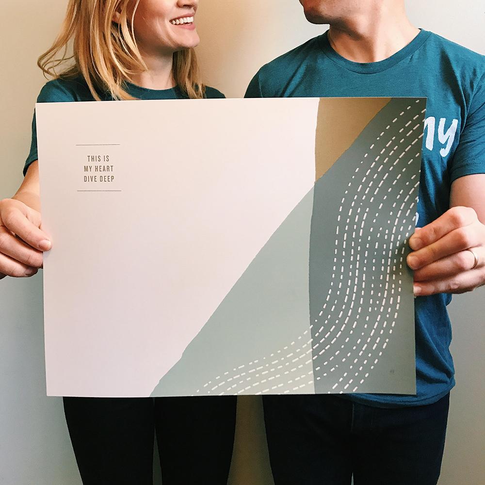Dive Deep Screen Print