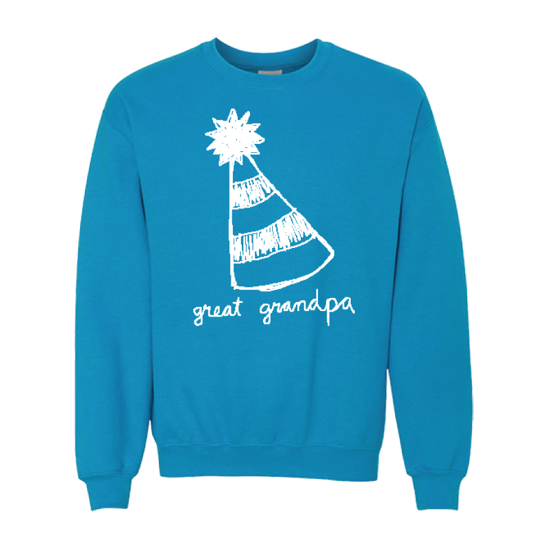 Party Hat Crewneck + Party Hat Pin