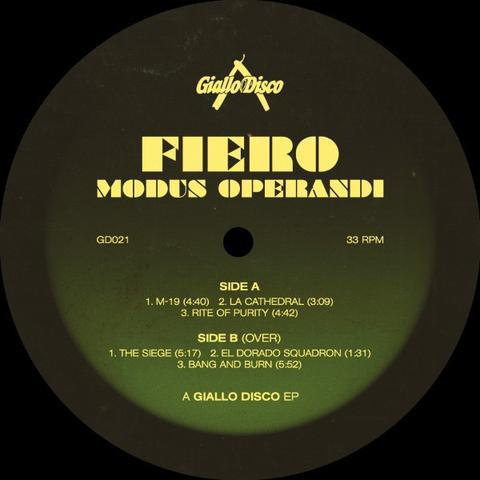 Fiero – Modus Operandi (Giallo Disco)