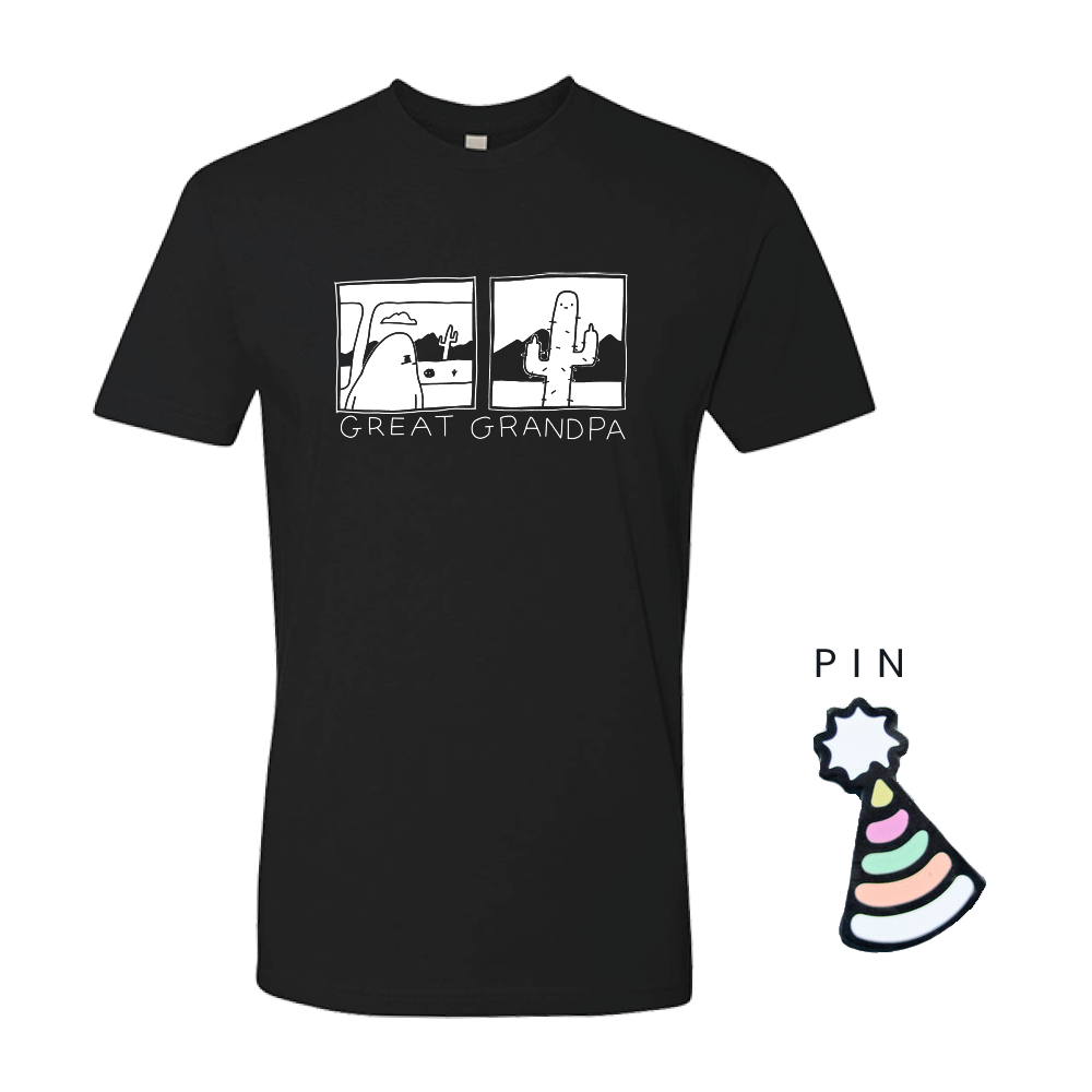 Cactus Tee + Party Hat Pin