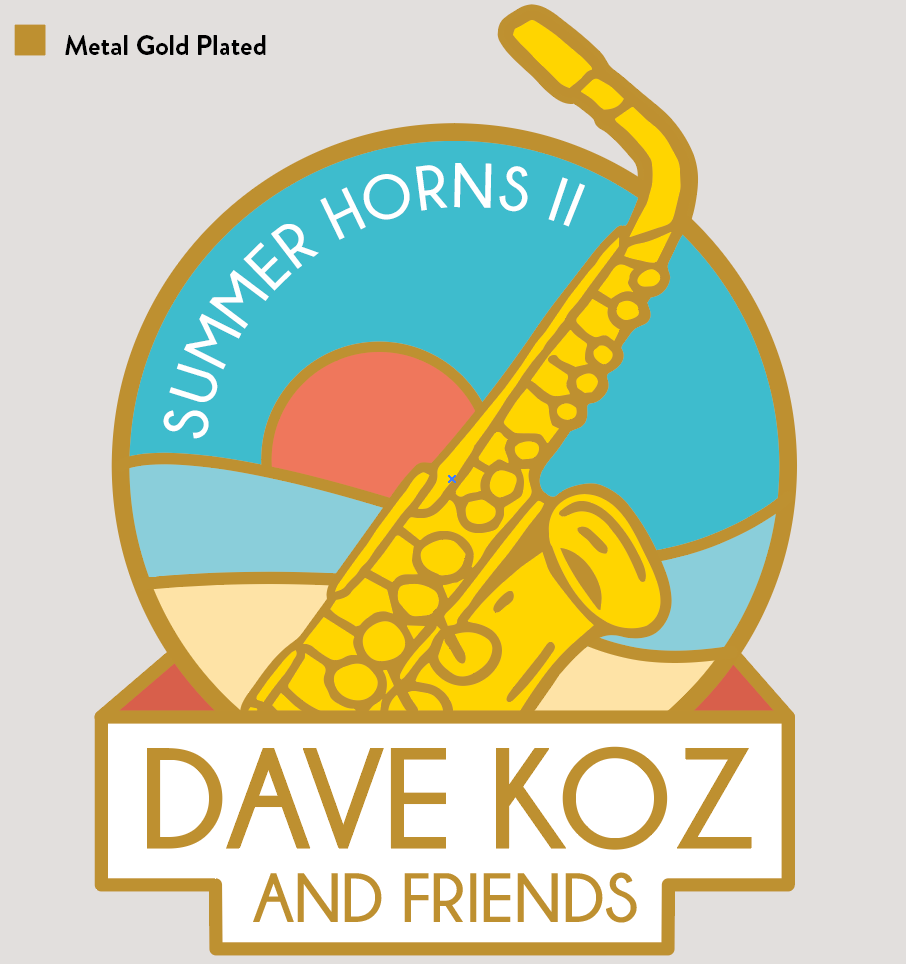 """Summer Horns"" Enamel Pin + Digital Download"