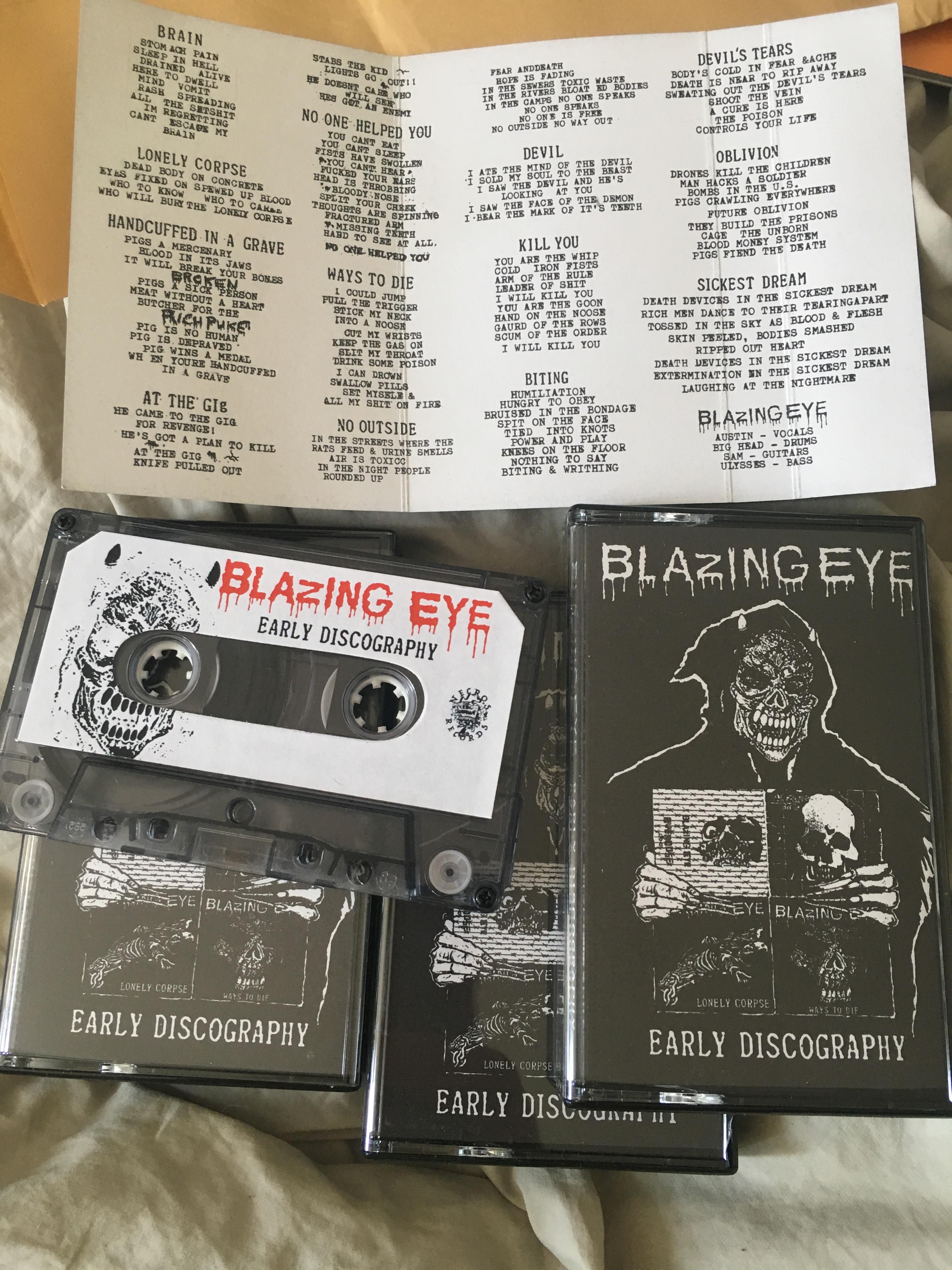 SLUGSALT RECORDS - Blazing Eye - Early Discography CS (Indonesian