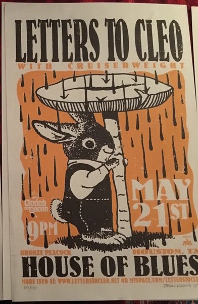 Poster-Houston, TX House of Blues 5/21/09