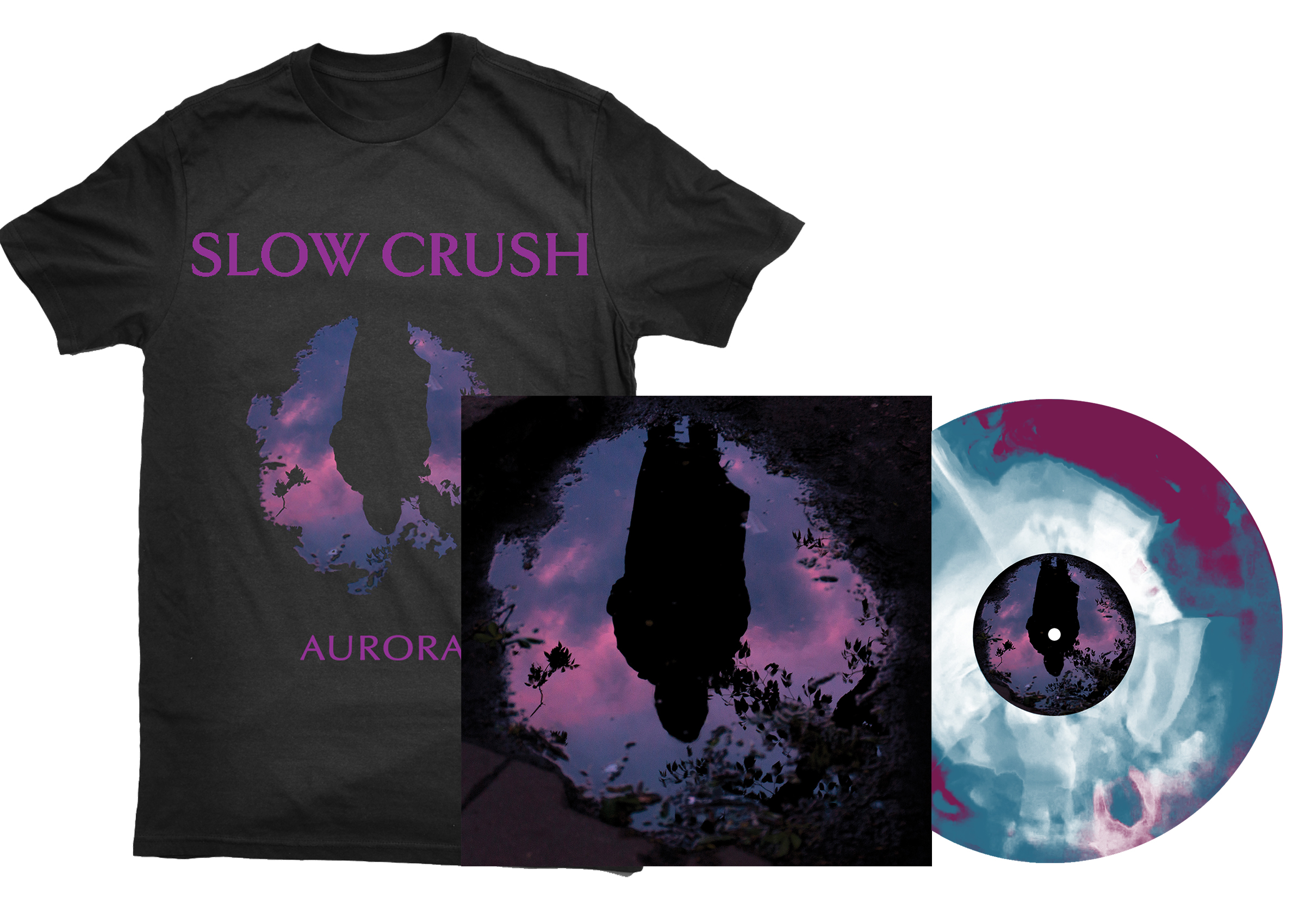 Slow Crush - Aurora LP + shirt