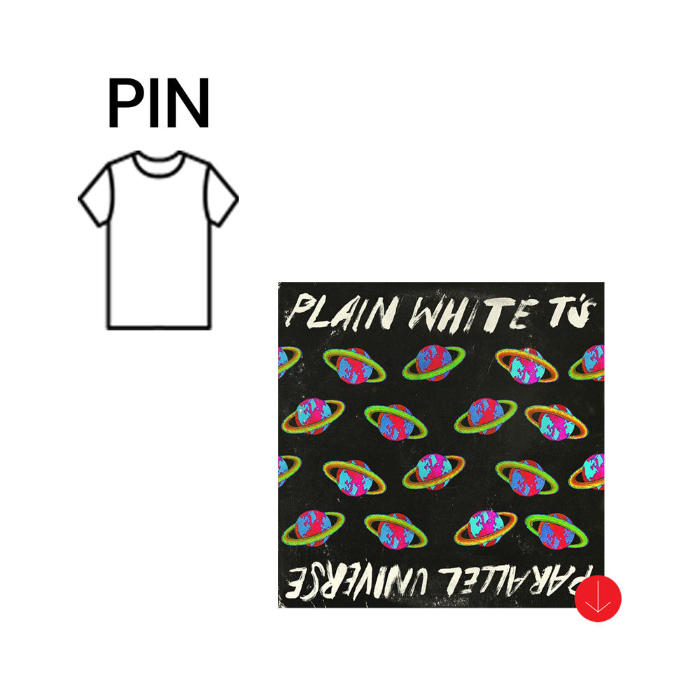 Plain White Tee enamel pin + Album Download