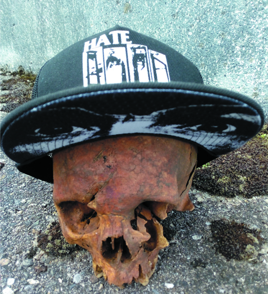 HATE COUTURE - HATE COUTURE BLACK GUILLOTINE TRUCKER HAT 03c0c286d1f