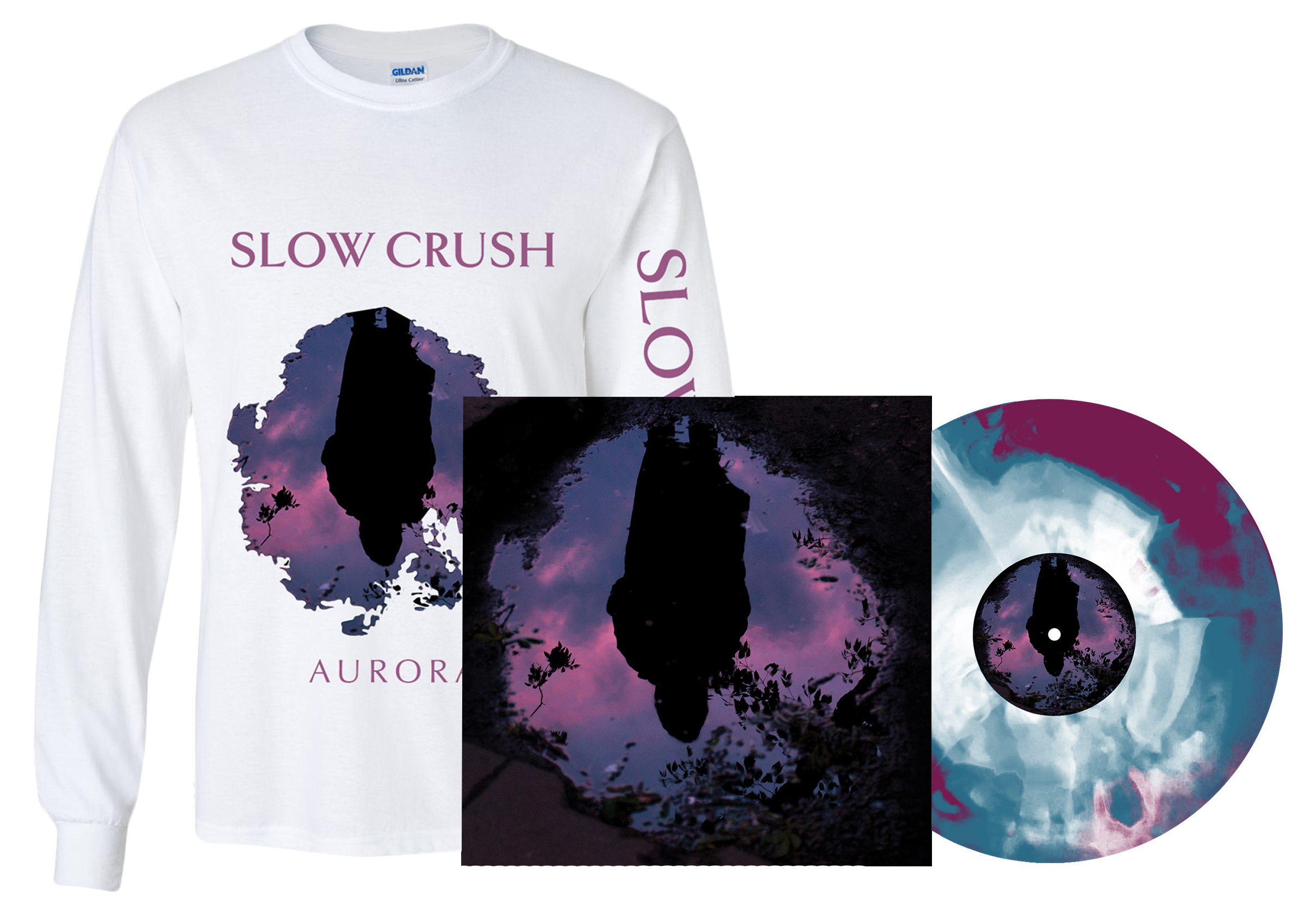 Slow Crush - Aurora LP + long sleeve