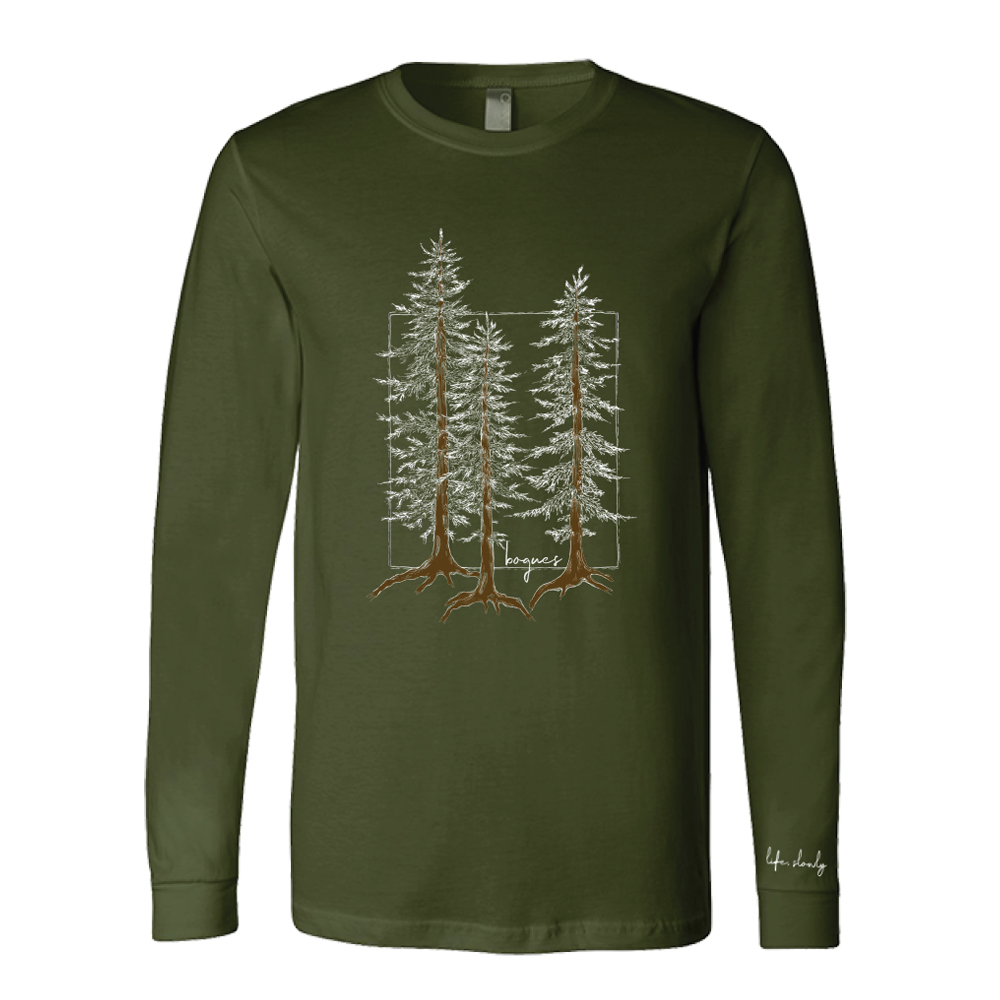 Pine Tree Long Sleeve (olive)