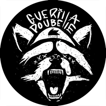 Guerilla Poubelle - badge Raccoon