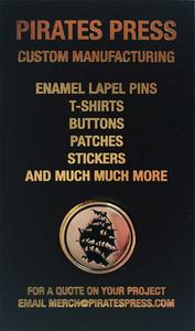 Pirates Press Gold Enamel Pin