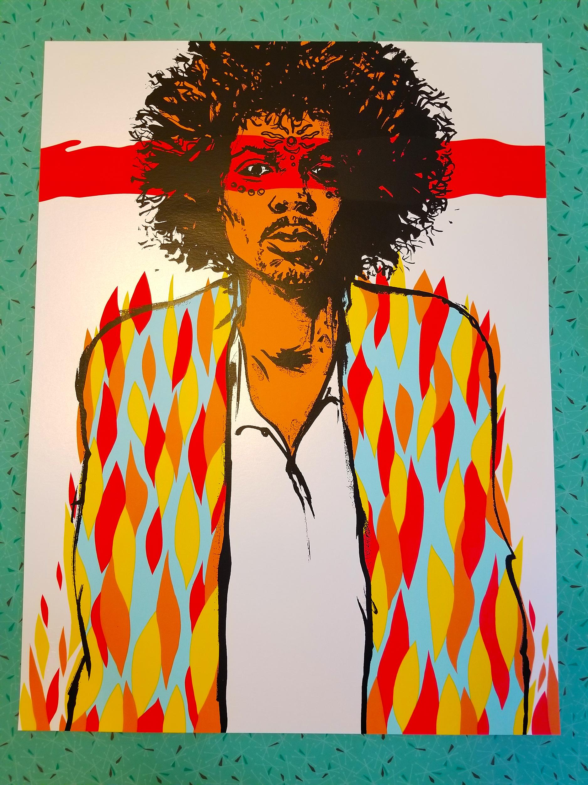 NEW - 'Voodoo' Art Print (Hendrix) - Gallery & Opal Editions