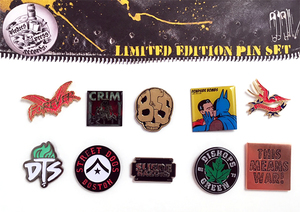 Pirates Press Records Limited Edition Pin Set #1