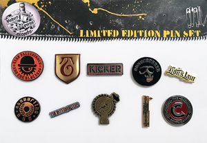 Pirates Press Records Limited Edition Pin Set #3