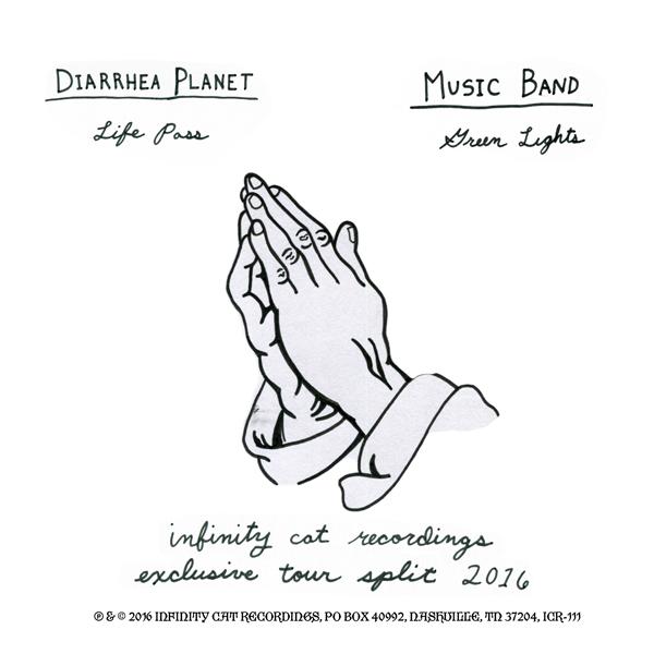 "Diarrhea Planet/Music Band ""Life Pass/Fortune Guns"" 7"""