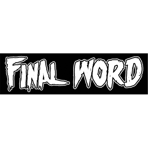 Final Word Sticker