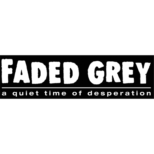 Faded Grey Sticker
